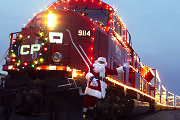 holiday train santa