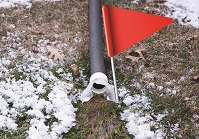 ditch and flag